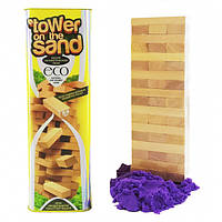 """Tower on the sand (желтый)"" развлекательная настольная игра | Danko toys, фото 1"