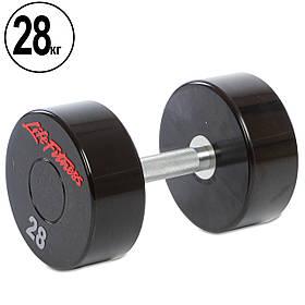 Гантель цельная профессиональная Life Fitness (1шт) 28кг (SC-80081-28)