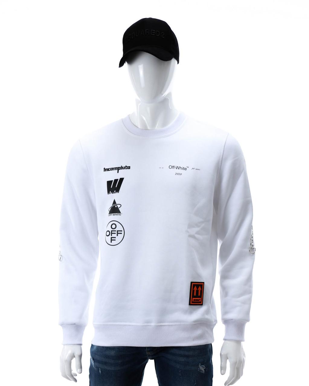 Свитшот осень-зима белый OFF-WHITE №14, лента WHT L(Р) 20-538-003-002