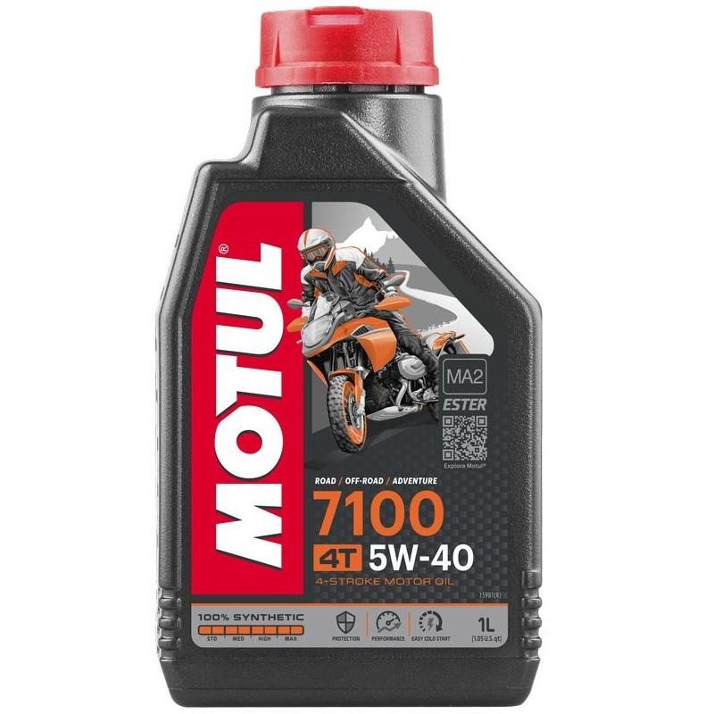 Масло для 4-х тактных двигателей 100% синтетическое эстеровое MOTUL 7100 4T SAE 5W40 1л. 104086/838011