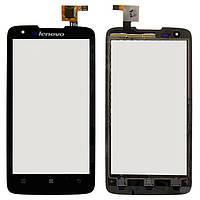 Touchscreen (сенсорный экран) для Lenovo S750, оригинальный (черный)