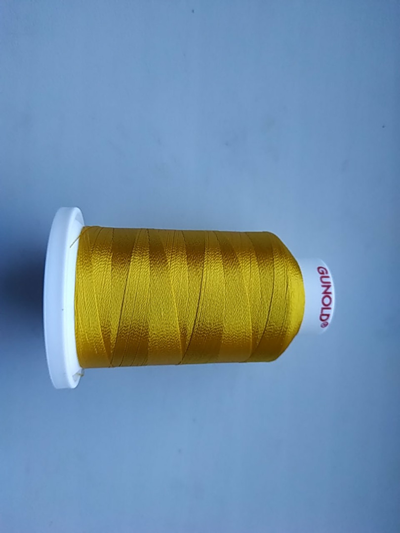Нитки для машинной вышивки   Gunold  №40.  цвет 1185 ( ЗОЛОТО ).  1000 м