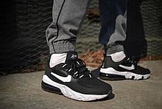 Мужские кроссовки Nike Air Max 270 React Black White ( Реплика )