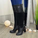 Ботфорты женские зимние на каблуке, 37 размер, фото 2