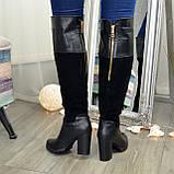 Ботфорты женские зимние на каблуке, 37 размер, фото 3