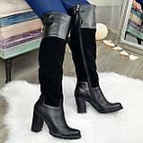 Ботфорты женские зимние на каблуке, 37 размер, фото 4
