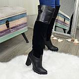 Ботфорты женские зимние на каблуке, 37 размер, фото 5
