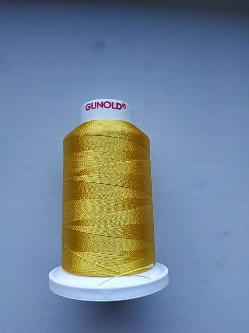 Нитки для машинной вышивки   Gunold №40.  цвет 1023 ( ЗОЛОТО ).  1000 м