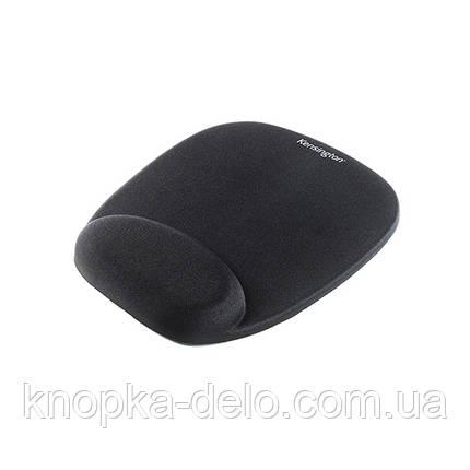 Коврик для мыши Kensington с подушкой под запястье, цвет черный (62384), фото 2