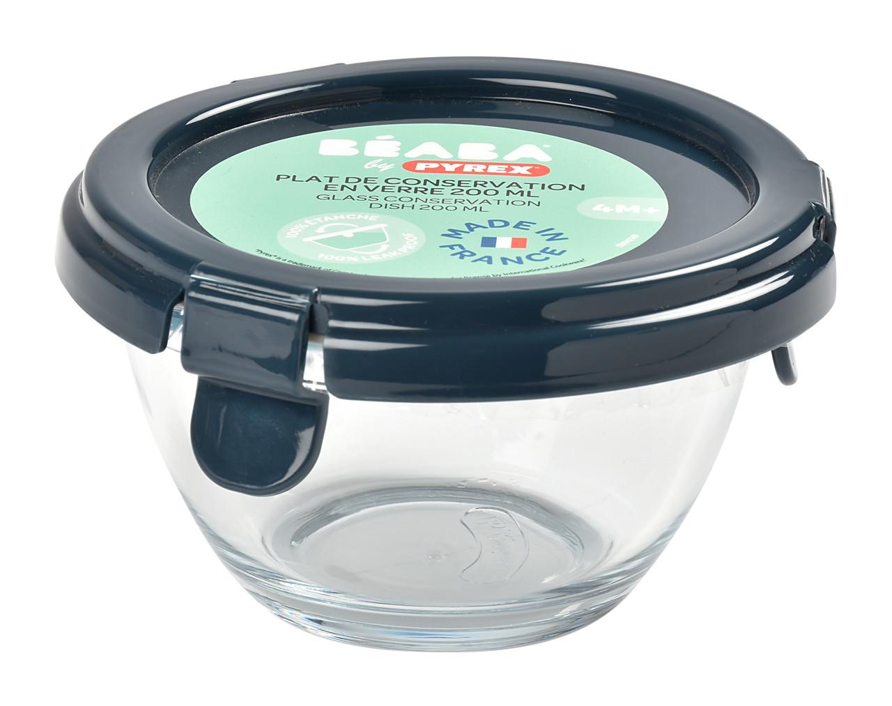 Скляний контейнер Beaba® by PYREX® - синій, арт. 780500