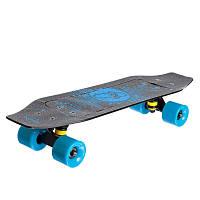 Скейтборд пластиковый FISH Duckbill 23in SK-418-2 (ABEC-7, колесо PU 60x45мм 82А, черный-синий)
