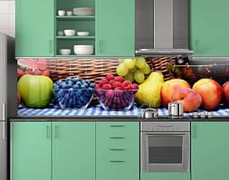 Пластиковый кухонный фартук ПВХ Ягоды и фрукты, стеновые панели пластик скинали фотопечать, натюрморт