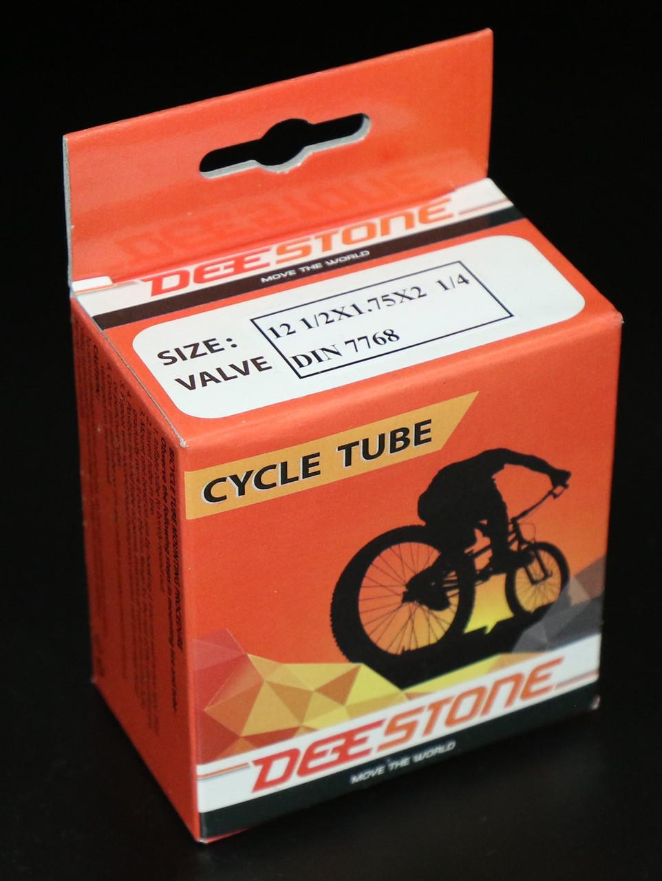 Камера велосипедная 12 1/2x1.75x2 1/4 DIN 7768, изогнутый (кривой) вентиль Deestone (Таиланд)
