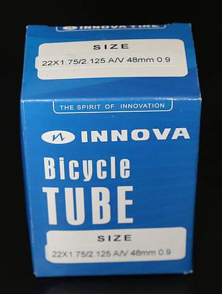 Камера велосипедная 22x1.75/2.125 A/V 48 mm 0.9 для электровелосипеда Innova, фото 2