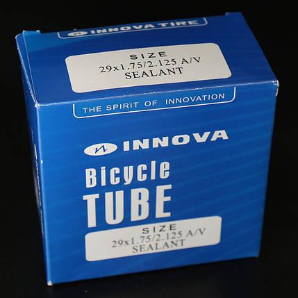Камера велосипедная 28/29x1.75/2.125 A/V sealant самоклейка Innova, фото 2