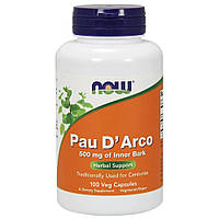 Кора муравьиного дерева, Now Foods, 500 мг, 100 капсул
