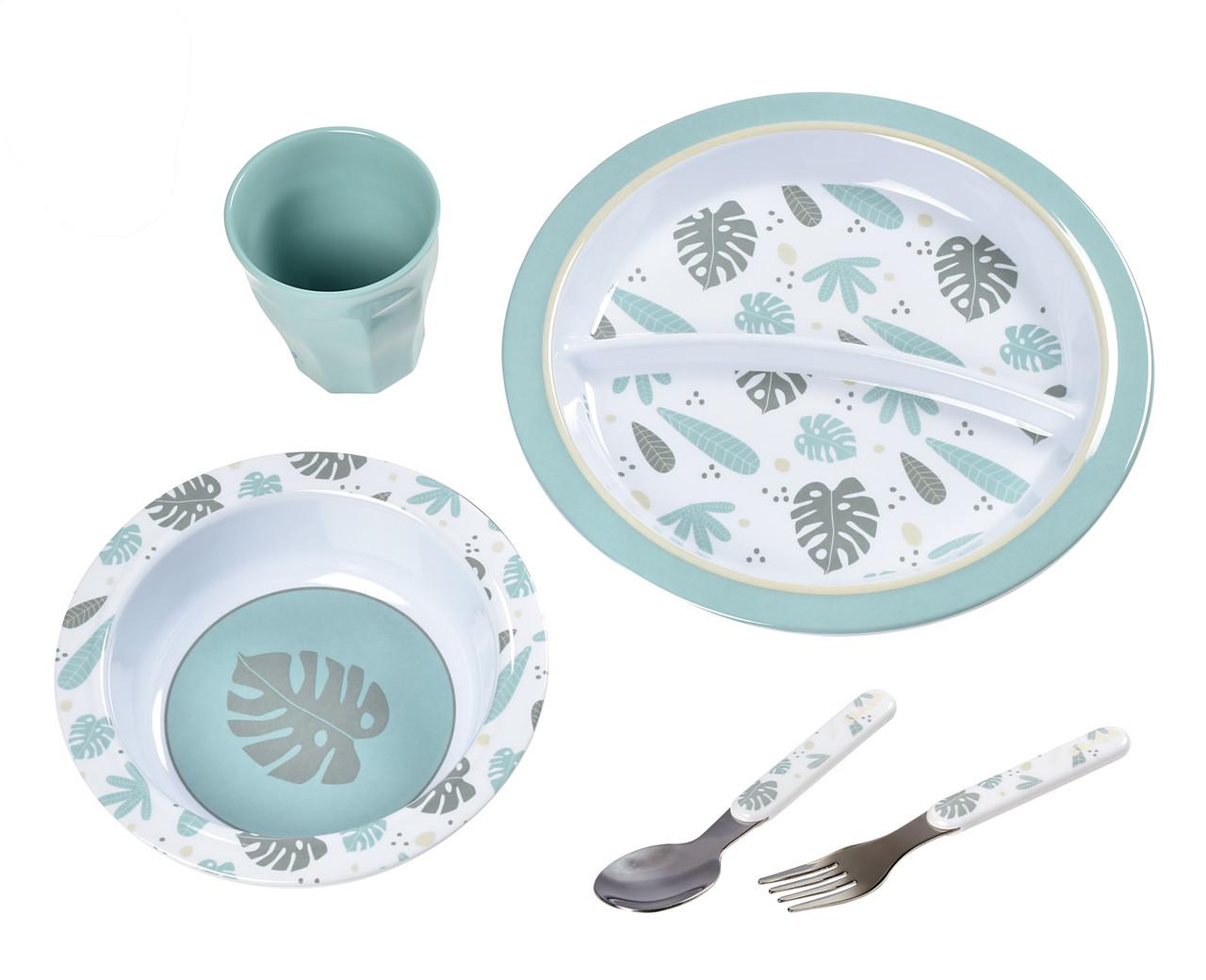 Набір посуду з меламіну Beaba - синій , арт. 913459