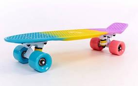 Скейтборд пластиковый Penny FISH COLOR 22in полосатая дека SK-402-6