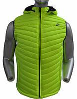 Мужская спортивная осенняя жилетка Nike салатового цвета (реплика) размер L 48