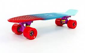 Скейтборд пластиковый Penny FISH COLOR 22in полосатая дека SK-402-3