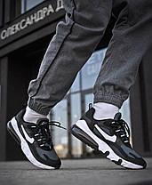 Мужские кроссовки Nike Air Max 270 Black White Green ( Реплика ), фото 3