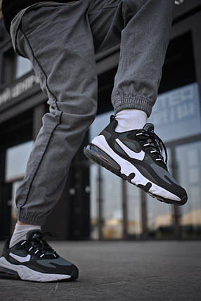 Мужские кроссовки Nike Air Max 270 Black White Green ( Реплика ), фото 2