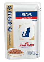 Влажный корм для кошек Royal Canin Renal (Роял Канин Ренал) Wet при почечной недостаточности (говядина), 85 г