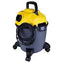 Пылесос строительный 1200Вт 1.5м3/мин 15.5КПа пластиковый бак 18л VORTEX (5346233), фото 4