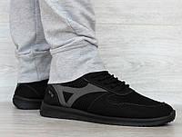 41 р. Кроссовки мужские на лето сетка черного цвета (Пр-3905ч)