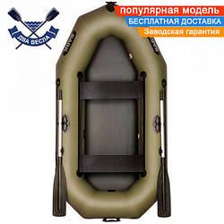 Надувная лодка Bark B-240D двухместная без настила с передвижными сиденьями