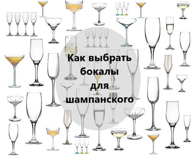 Как выбрать бокал для шампанского