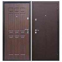 Дверь входная металлическая Сопрано метал/мдф Дуб Шоколадний