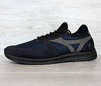 42 і 45 р. Кросівки чоловічі на літо сітка синього кольору (Пр-3905с)