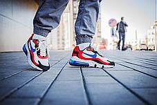 Мужские кроссовки Nike Air Max 270 White Red Blue ( Реплика ), фото 3