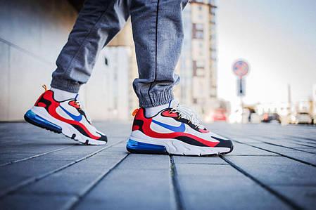 Мужские кроссовки Nike Air Max 270 White Red Blue ( Реплика ), фото 2