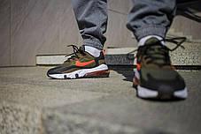Кросівки чоловічі Найк Аір Макс 270 Green Orange з замшевими вставками Репліка, фото 3
