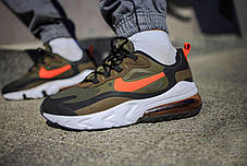 Мужские кроссовки Nike Air Max 270 Green Orange ( Реплика ), фото 2