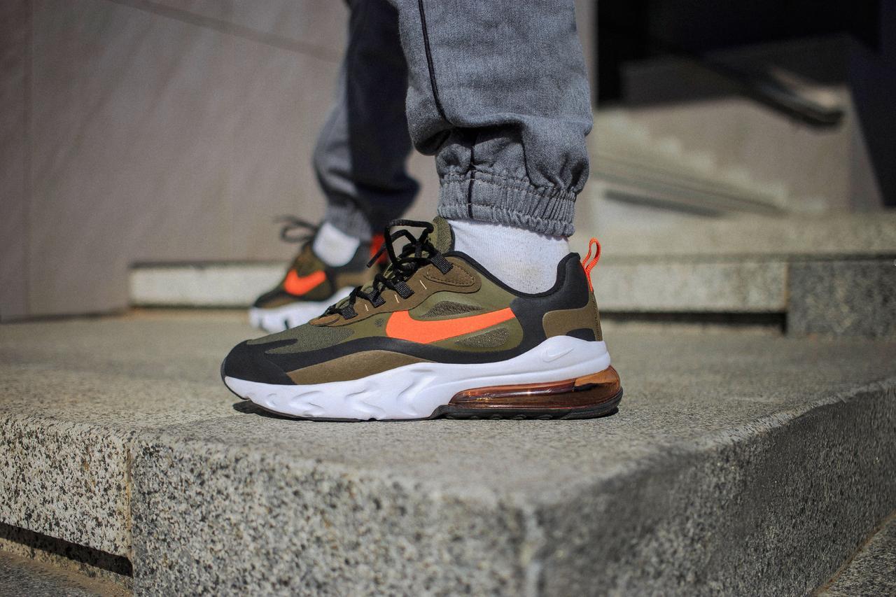 Мужские кроссовки Nike Air Max 270 Green Orange ( Реплика )