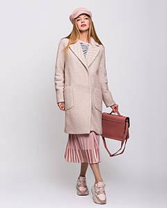 Пальто женское демисезонное с накладными карманами 1345 | 42-54р.