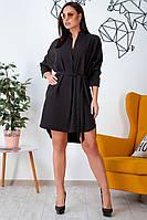 Большое асимметричное платье черное, фото 1