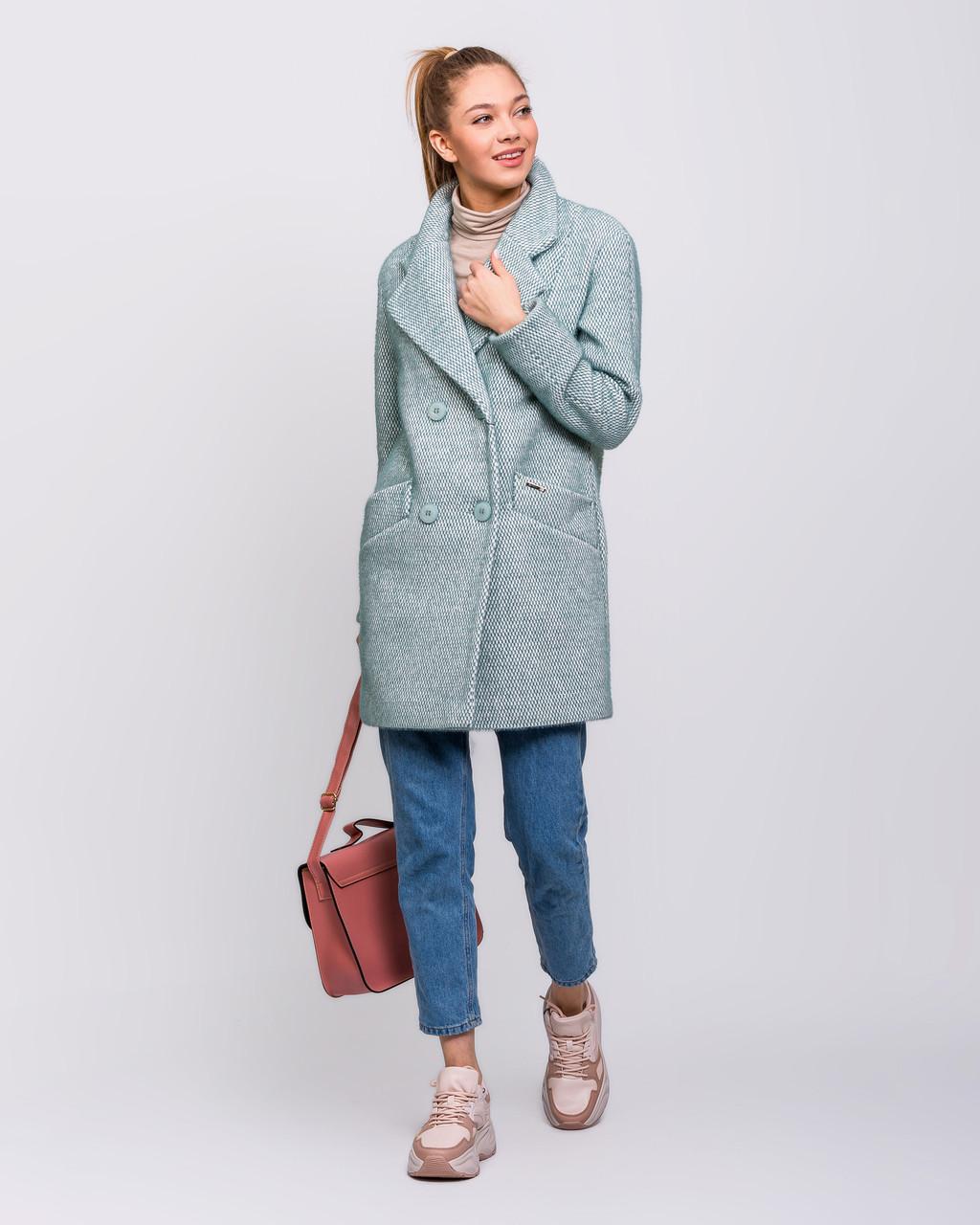 Женское демисезонное двубортное пальто - М1257-1