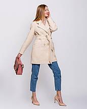 Женское демисезонное двубортное пальто - М1257-1, фото 3