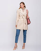 Женское демисезонное двубортное пальто - М1257-1, фото 2