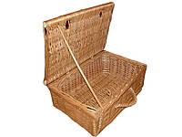 Плетеный ящик для хранения вещей (40*27*17) с крышкой