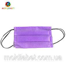 Захисна маска для обличчя фіолетова 100 штук