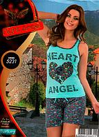 Домашний костюм с шортами качество хлопок с лайкрой Night Аngel S-M L-XL  Много моделей