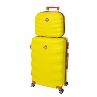 Комплект чемодан + кейс Bonro Next средний, желтый