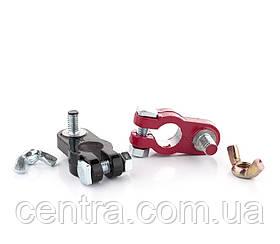 Клеммы аккумуляторные свинцовые, болт с барашком , 280гр, 2 шт.  DK-TL114