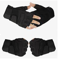 Тактические беспалые перчатки Black Hawk Black