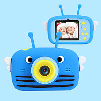 Цифровой детский фотоаппарат XOKO KVR-100 Bee Dual Lens Голубой